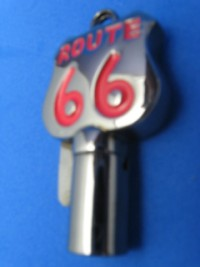 Black Chrome / Red Route 66 Key Blanks