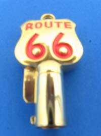 Gold / Red Route 66 Key