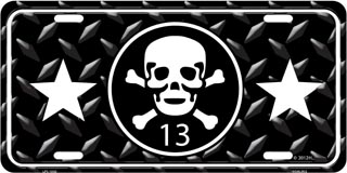 Skull and Crossbones License Plates