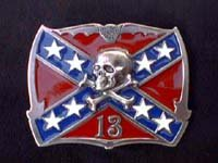 Confederate Flag with Skull