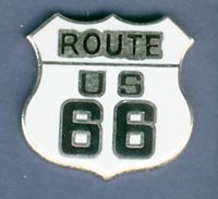 White US Route 66 Hat Pin