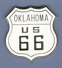 Oklahoma US Route 66 Hat Pin
