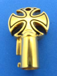 Gold / Black Cross Key